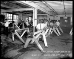 Employees working in the Landing Gear Department, Dayton-Wright Airplane Company Plant 2 July 17, 1918