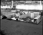 A De Havilland DH-4 in parts before being packaged at the Dayton-Wright Airplane Company