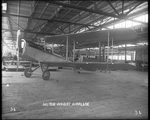 A De Havilland DH-4 inside of a Dayton-Wright Airplane Company factory by The Dayton-Wright Airplane Company