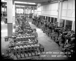 Female employees of the Dayton-Wright Airplane Company work in the Motor Department of Plant 1 July 1, 1918