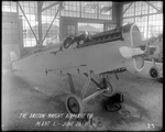 Completed De Havilland DH-4 fuselage at the Dayton-Wright Airplane Company Plant 1 June 28, 1918