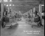 Fuselages of the Standard J-1 training aircraft at the Dayton-Wright Airplane Company Fuselage Department January 15, 1918