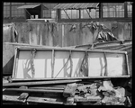 Damaged aircraft parts at the Dayton-Wright Airplane Company