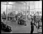 Dayton-Wright Airplane Company employees manufacture wooden aircraft parts