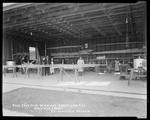Dayton-Wright Airplane Company employees work on the assembly of aircraft wing skeletons