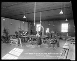 Employees of the Dayton-Wright Airplane Company shape wood for aircraft production at the Experimental Station