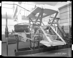 Side view of the fuselage of the Dayton-Wright XB-1A at the Dayton-Wright Airplane Company December 8, 1921