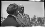 Edward E. Burkhart, Mayor of Dayton and Judson Harmon, Governor of Ohio at the 1909 Wright Brothers Homecoming Celebration medals ceremony
