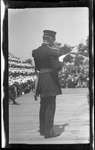 James Allen, Chief Signal Officer, United States Army, at the 1909 Wright Brothers Homecoming Celebration medals ceremony by Andrew S. Iddings