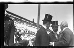 Wilbur and Orville Wright with Ohio Governor Judson Harmon at the 1909 Wright Brothers Homecoming Celebration medals ceremony