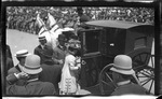 Katharine Wright entering a carriage during the 1909 Wright Brothers Homecoming Celebration medals ceremony