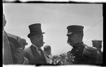 General Carlos Garcia Velez, Cuban Minister to the United States conversing with General James Allen, Chief Signal Officer, at the 1909 Wright Brothers Homecoming Celebration medals ceremony