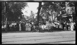 Children dressed as Uncle Sam and Miss Columbia in a pony cart in the parade during the 1909 Wright Brothers Homecoming Celebration by Andrew S. Iddings