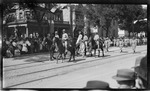 Soldiers marching in the parade during the 1909 Wright Brothers Homecoming Celebration
