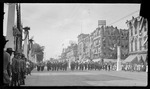 Heidelberg's Celebration Band marching in the Dayton Fire Department parade during the 1909 Wright Brothers Homecoming Celebration by Andrew S. Iddings
