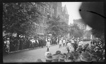 Parade marching to Van Cleve park for the opening ceremonies during the 1909 Wright Brothers Homecoming Celebration