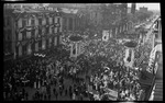 An overhead view of the crowd at the parade during the 1909 Wright Brothers Homecoming Celebration