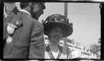 Katharine Wright with Lt. Frank P. Lahm, United States Army Signal Corps, during the 1909 Wright Brothers Homecoming Celebration medals ceremony