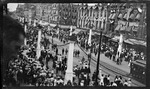 Elevated view of the Court of Honor during the 1909 Wright Brothers Homecoming Celebration by Andrew S. Iddings