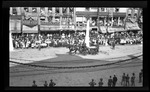 Dayton Fire Department hose wagon in the exhibition fire run during the 1909 Wright Brothers Homecoming Celebration by Andrew S. Iddings