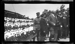Dayton Mayor Edward E. Burkhart and Ohio Governor Judson Harmon at the 1909 Wright Brothers Homecoming Celebration medals ceremony by Andrew S. Iddings