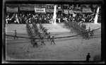 Ohio National Guard soldiers marching in the review during the 1909 Wright Brothers Homecoming Celebration