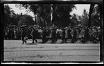 United States Navy seamen marching in the parade during the 1909 Wright Brothers Homecoming Celebration