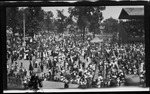 Spectators at the Montgomery County Fairgrounds for the 1909 Wright Brothers Homecoming Celebration medals ceremony