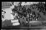 An elevated view of the crowd during the parade at the 1909 Wright Brothers Homecoming Celebration