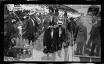 Wilbur Wright arriving at the medals ceremony during the 1909 Wright Brothers Homecoming Celebration