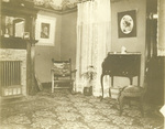 The parlor of the Wright home at 7 Hawthorne Street