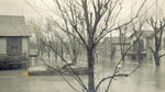Hawthorne Street during the great 1913 flood