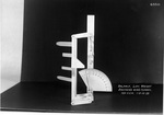 Reproduction of 1901 Wright wind tunnel lift balance; top view