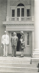 Orville Wright standing with Dr. and Mrs. Johlin