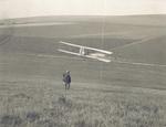 Alexander Ogilvie gliding in Wright-type glider