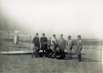 Group photograph with Wright 1911 Glider