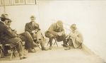 Orville Wright, and others, returning from Kitty Hawk