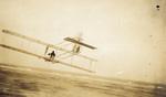 Orville Wright gliding in Wright 1911 glider