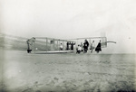 Preparing the Wright 1911 Glider for launch