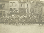 U S Army marching band on parade at Le Mans