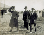 King Alfonso XIII and Berg walk across flying field