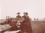 Katharine and Orville Wright in an automobile