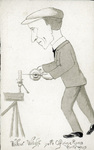 A caricature of Wilbur Wright by L. Olivieri