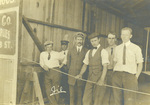 Orville Wright and his student pilots