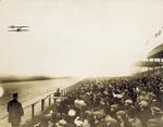 Wright Model B Flyer in flight near the grandstands
