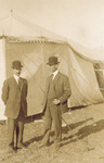 Orville and Wilbur Wright at Belmont Park