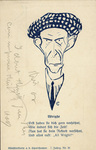 A caricature of Wilbur Wright