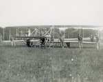 Hauling the Wright Flyer across the field at Fort Myer