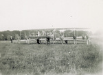 Hauling the Wright Model A Flyer onto the field at Fort Myer