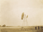 Passing the weight tower, last flight of July 1, 1909